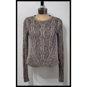 Rachel Roy Hi Lo Marled Split Crop Side Sweater M